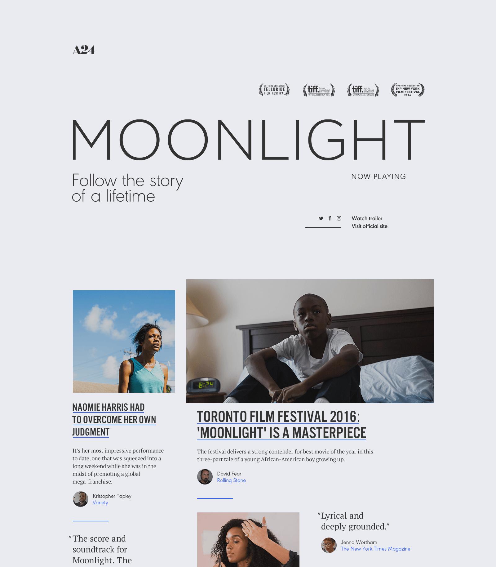 Moonlight Watson Toronto Film Festival Digital Agencies Moonlight