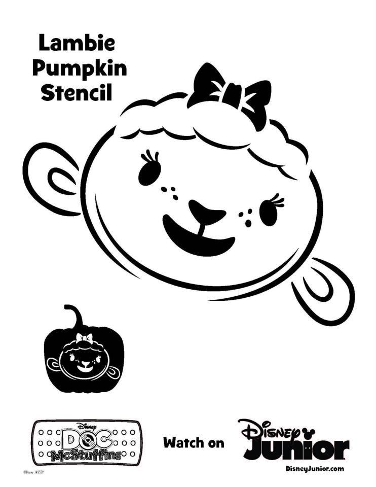 Lambie Pumpkin Stencil