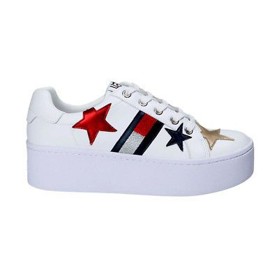 Scarpe tommy hilfiger donna sneaker brillanti con plateau white en00160 |  Tommy hilfiger sneakers and Tommy hilfiger