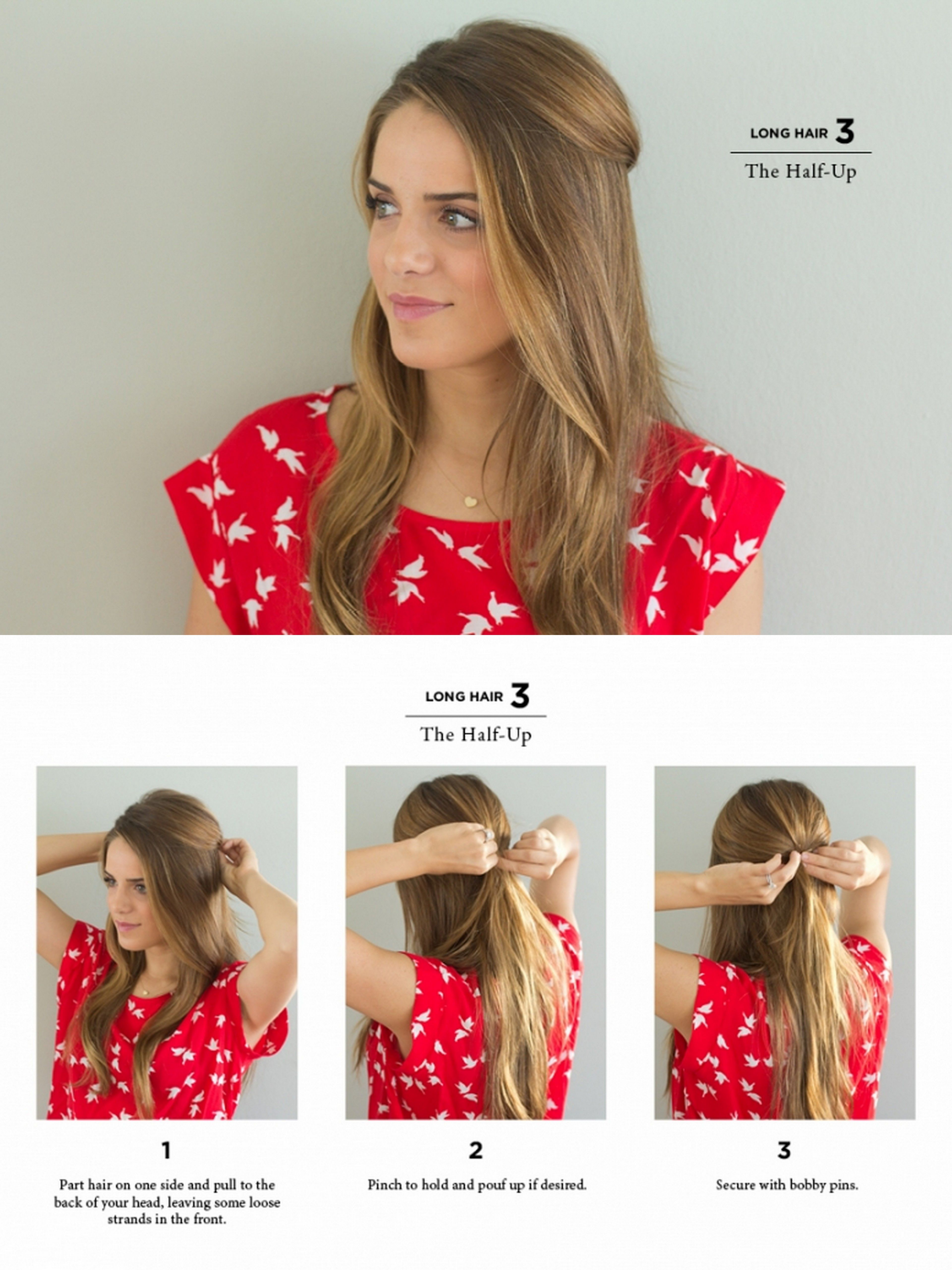 the half up   Casual hairstyles for long hair, Long hair ...