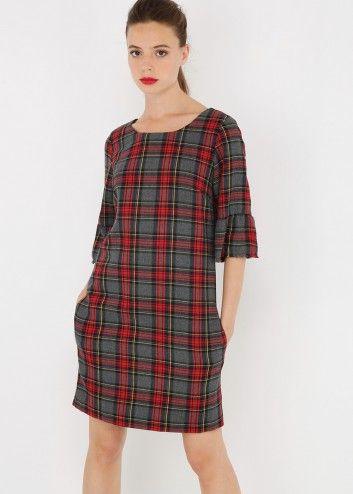 Robe Ecossaise Franges Kookai Robe Ecossaise Vetements Celtiques Idees De Mode
