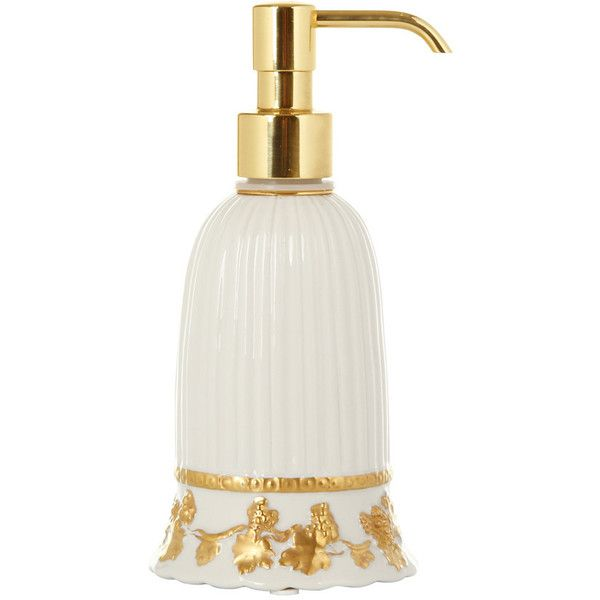 bathroom soap dispensers bath accessories. Villari Impero Soap Dispenser  White Antique Gold 300 CAD liked on Polyvore featuring home bed bath accessories white bathroom
