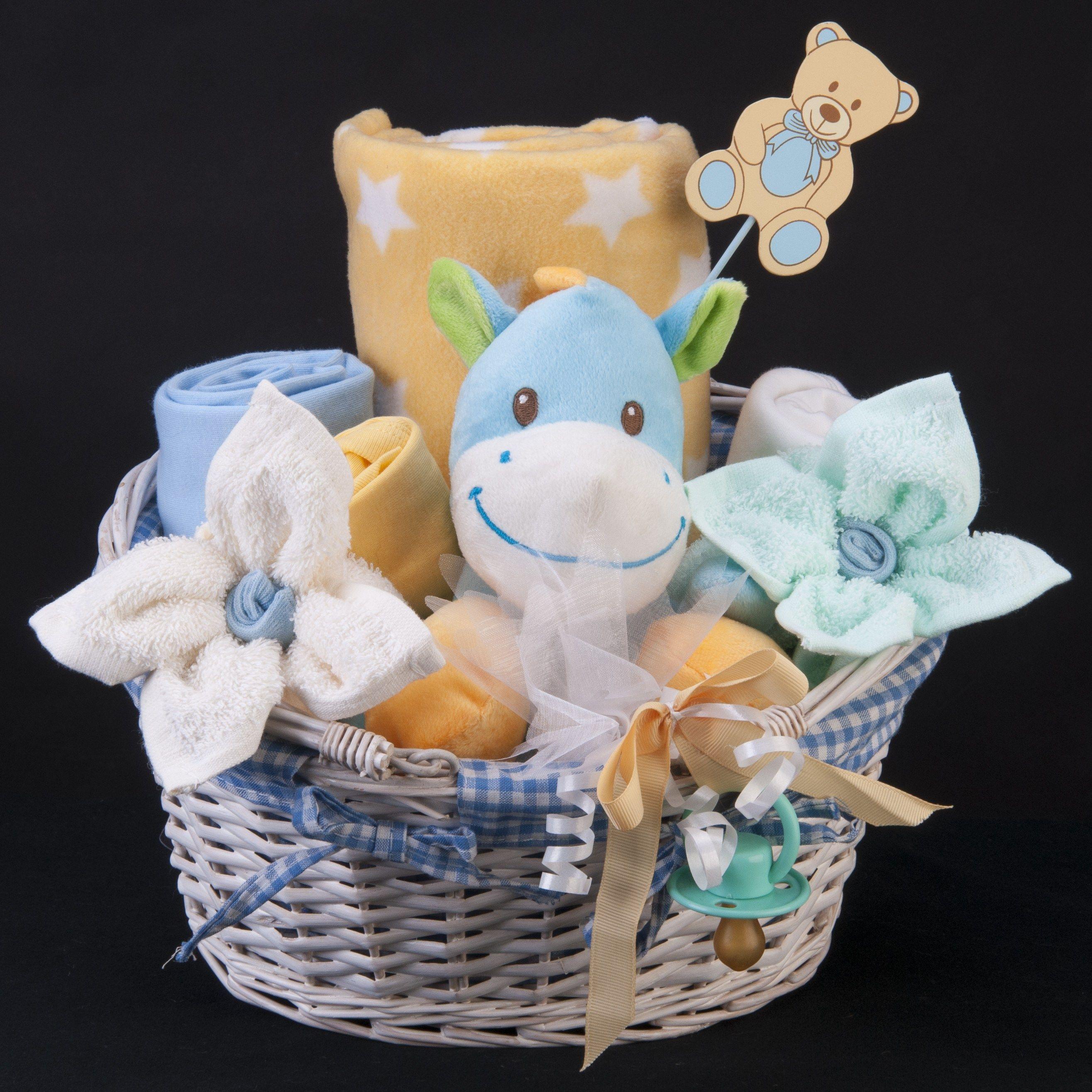 A unique baby boy gift baskethamper tbc1324 baby boy