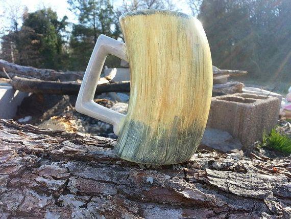 Viking Horn Mead Mug Handpainted by BEAYouTeaFullOrganic, $15.00  Skyrim-style mead mug!