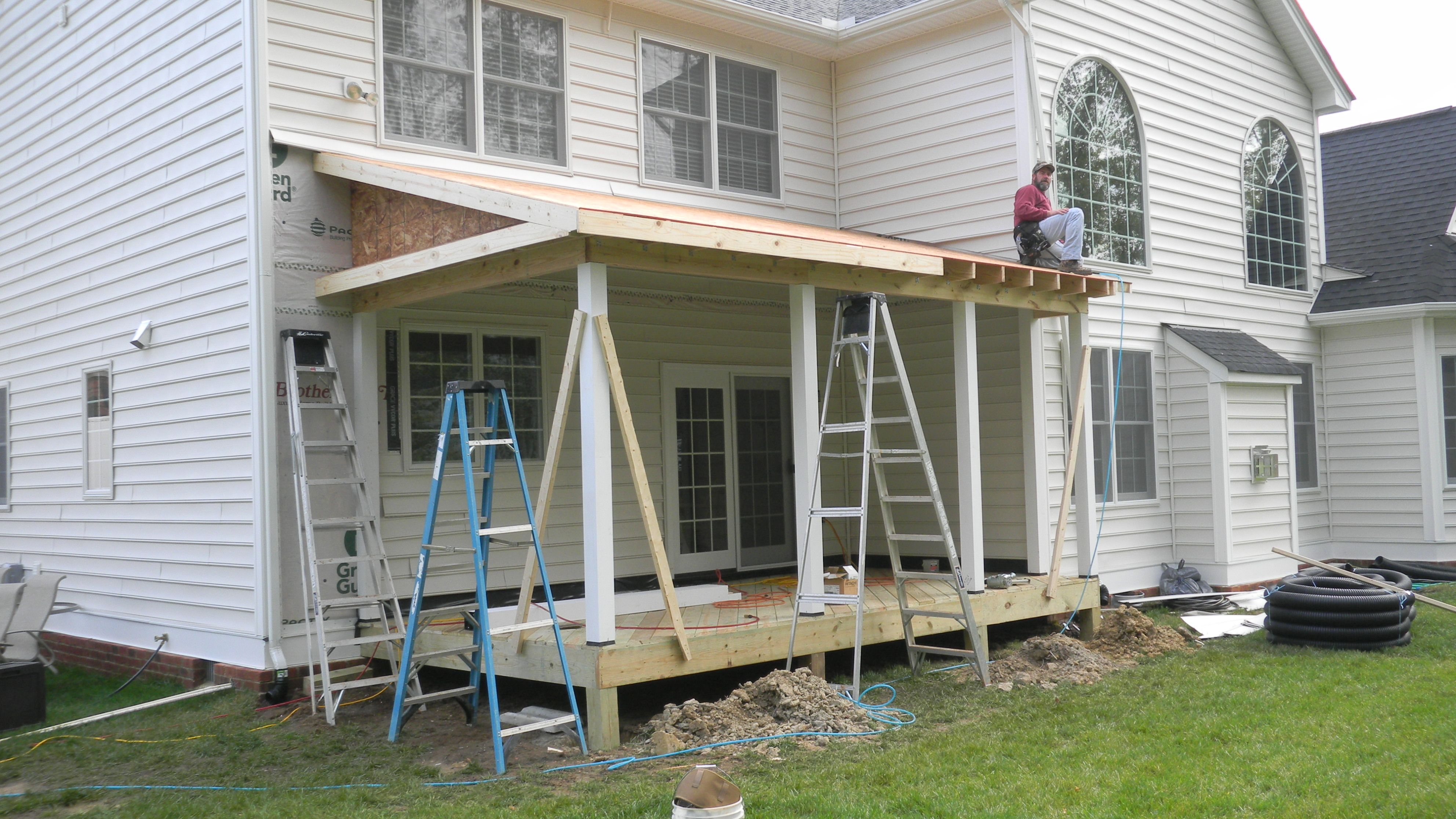 Awesome Porch Roof Framing 3 Screen Porch Roof Framing Porch