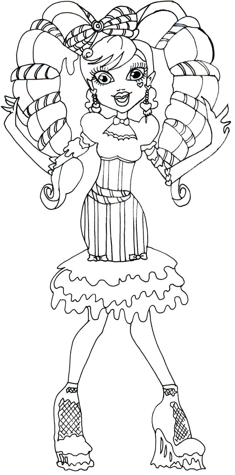 Monster High Sweet Monster High Doll And Coloring Pages