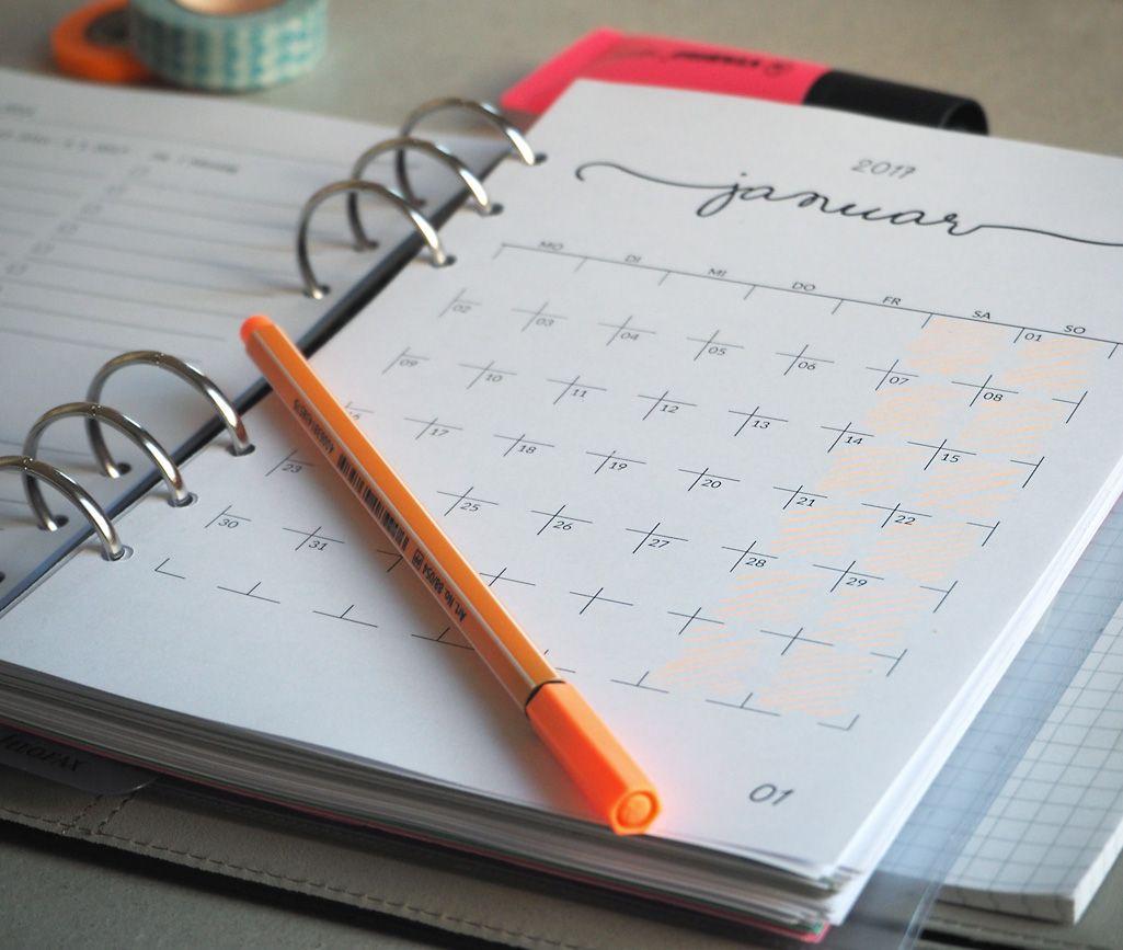 Ringkalendereinlagen 2017 Zum Kostenlosen Selbst Ausdrucken Kalender Einlagen Kalender Notizbuch Kalender Zum Ausdrucken