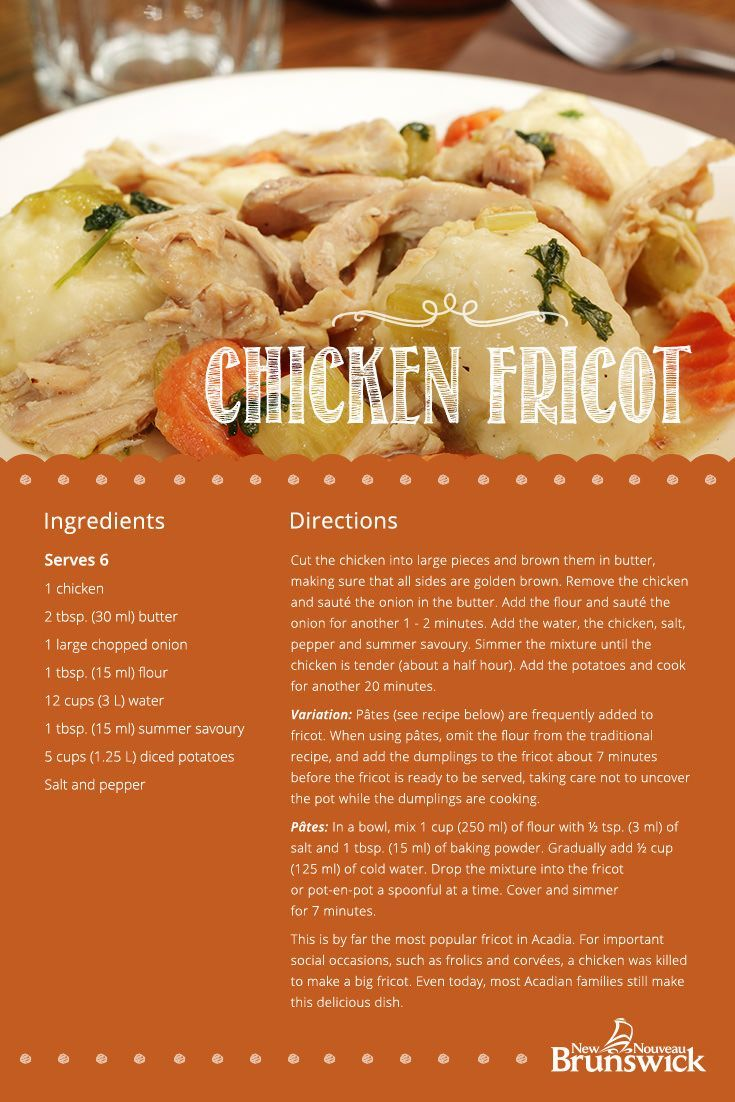RECIPE: Chicken Fricot | This classic Acadian dish from New Brunswick is a great…