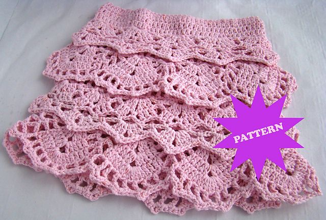 Crochet ruffle skirt. So cute!!! | Fiber Art I Love - Lace, Tatting ...