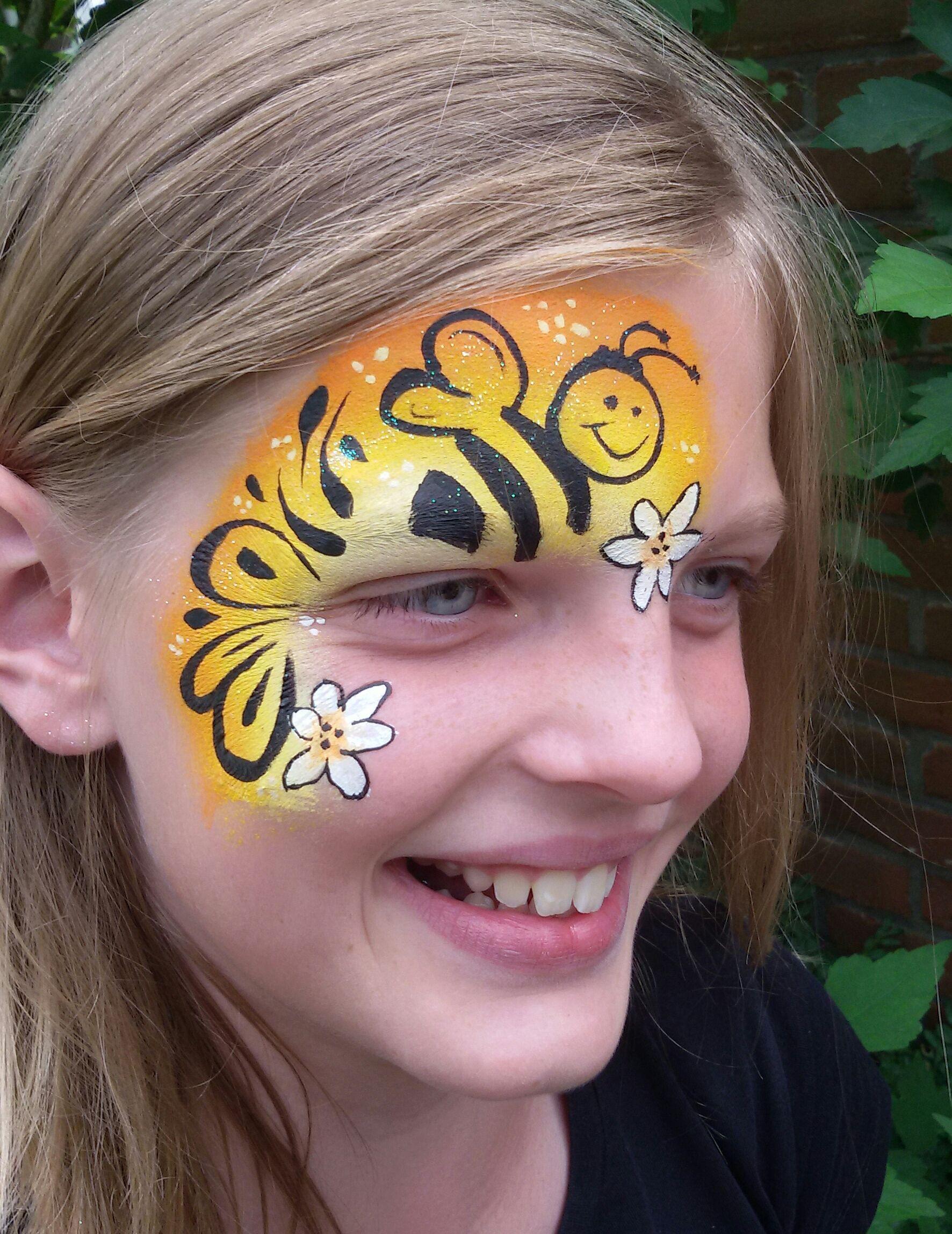 Bee Facepainting Bij Schminken Facepainting Schminken Painting
