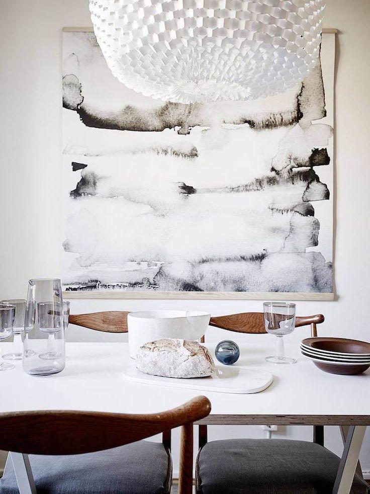 Idée Décoration Maison En Photos 2018 \u2013 grand tableau noir et blanc