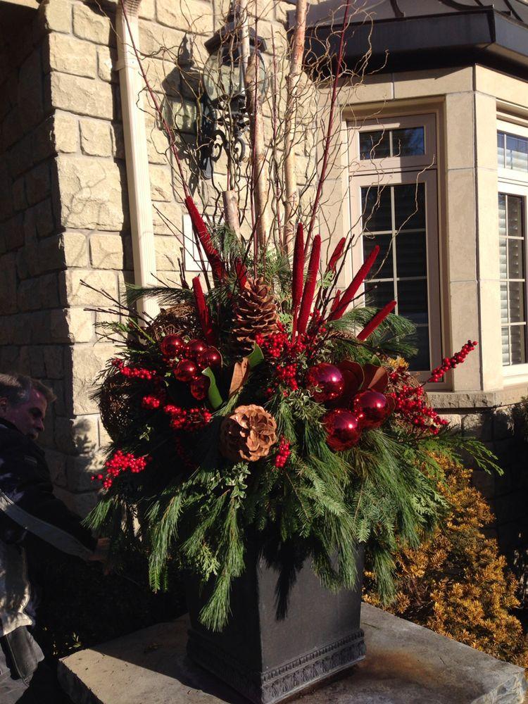 Pin By Rose Martino On Christmas Christmas Planters