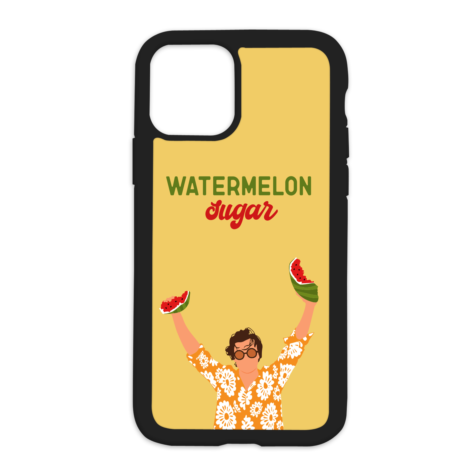 Harry Styles Design On Black Phone Case - 12/12Pro