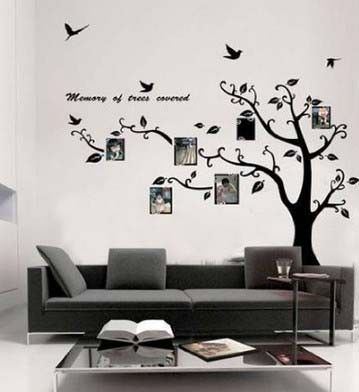 new large black photo picture frame tree vine branch removable wall