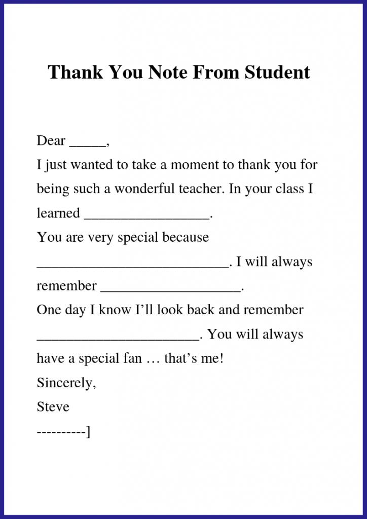 End Of Year Teacher Thank You Note Teacher Cards Teacher Thank You Teacher Thank You Notes