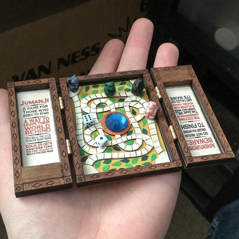 16 Miniature Jumanji Game Board Replica Prop Play Scale