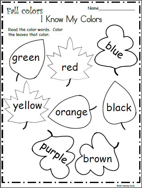 I Know My Fall Colors Worksheet Made By Teachers Color Worksheets For Preschool Fall Preschool Activities Fall Kindergarten
