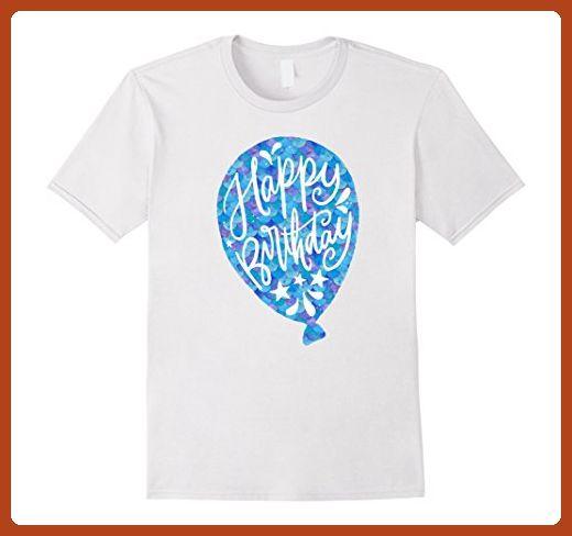 Mens Cute Mermaid Birthday Quote Balloon Party Blue Tail T Shirts XL White