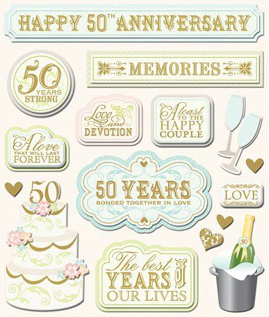 3d 50th Anniversary Stickers 9527 Wedding Stickers Planner