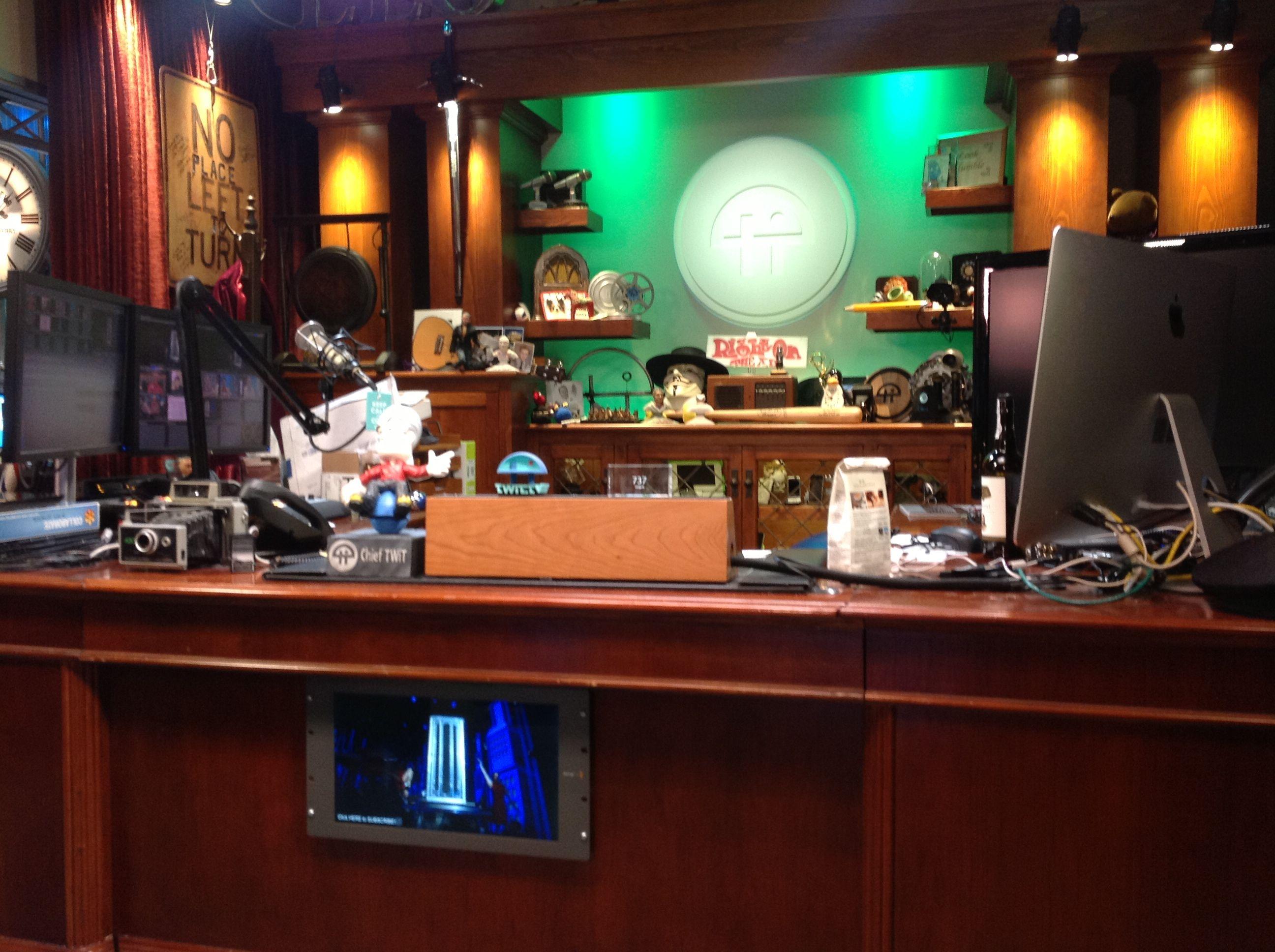 The twit.tv Brickhouse facility in Petaluma, CA, Leo Laporte's radio perch