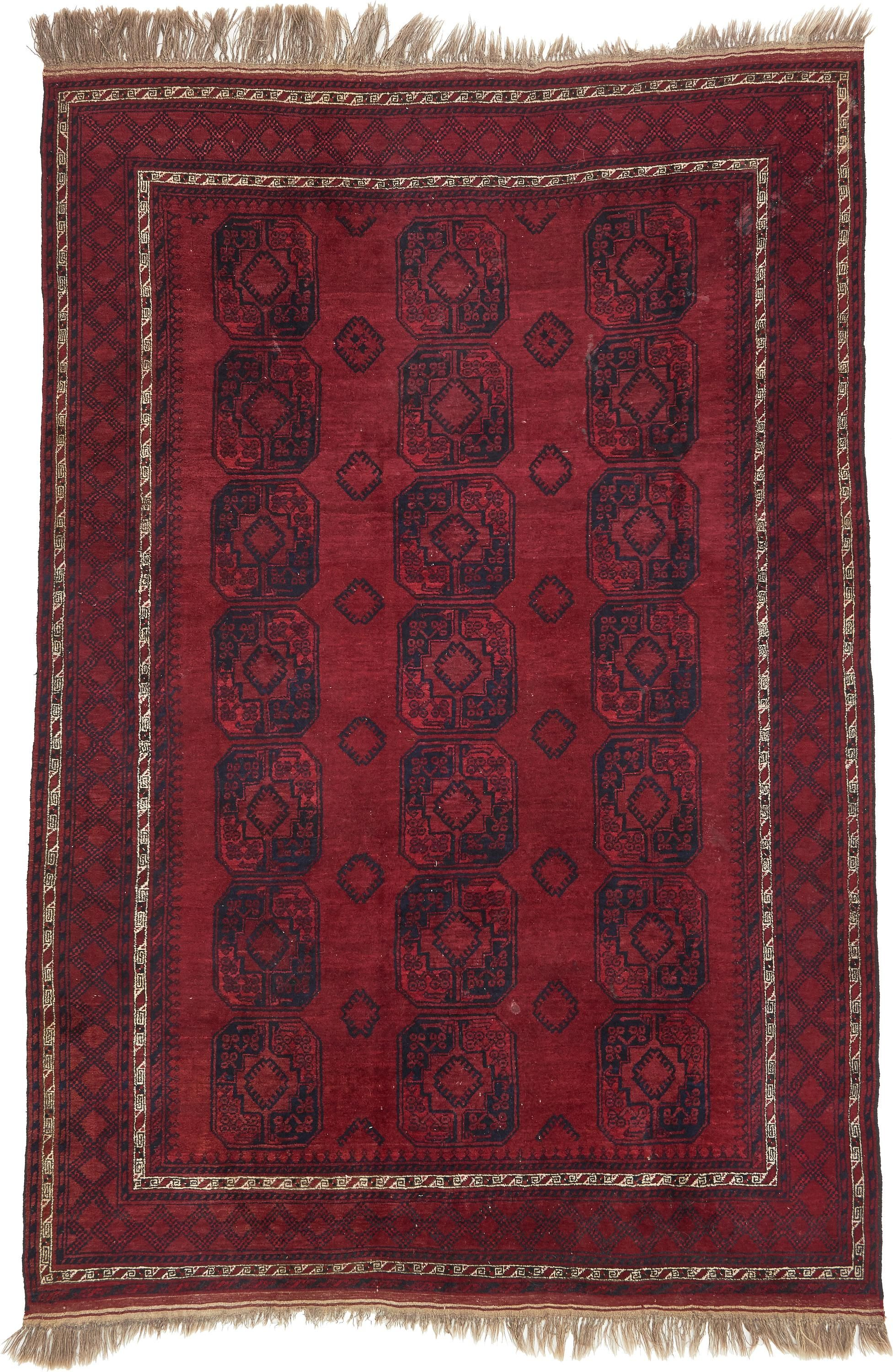 Red 7 X 11 4 Afghan Akhche Oriental 1339