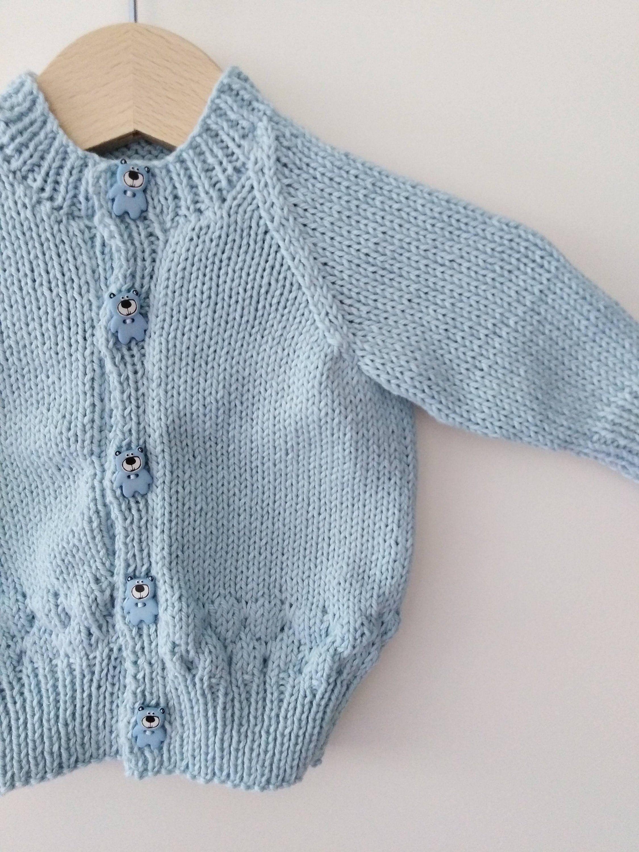 Bringing Home Baby Cardigan Sweater Handmade Cotton /& Merino Size 0-3 months