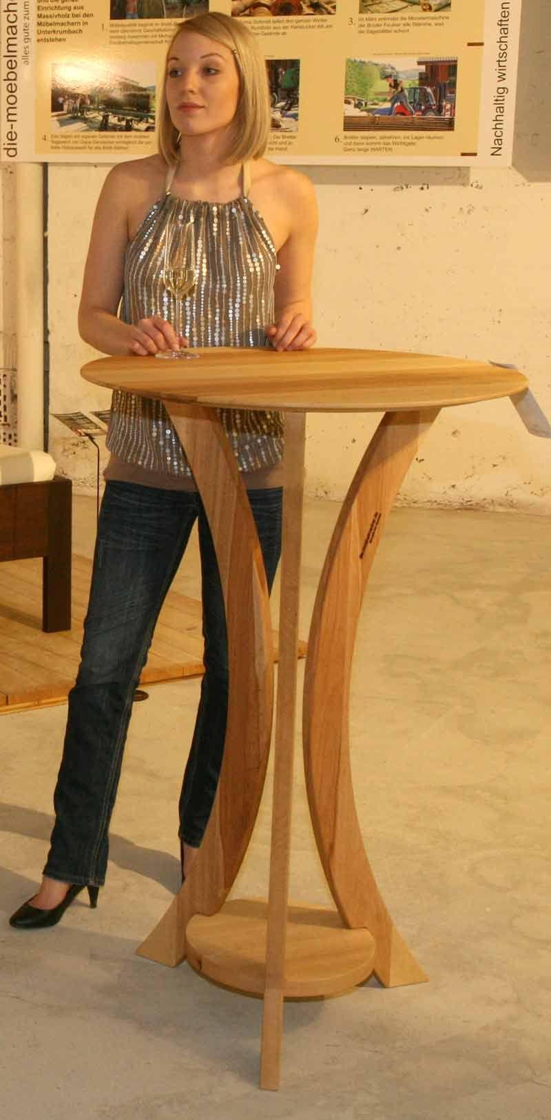 Die Möbelmacher stehtisch aus dem massivholz aus franken die möbelmacher holz