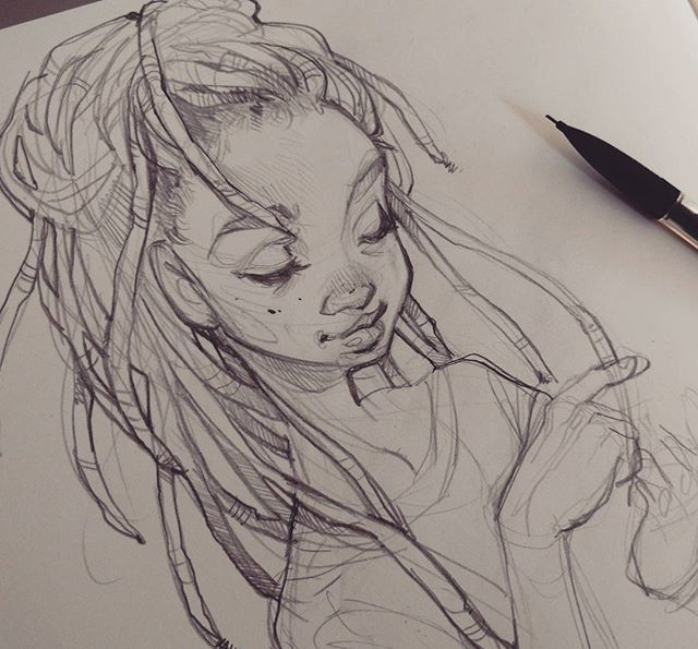 Dreadlock Sketching Sketches Drawing Sketches Art Sketches
