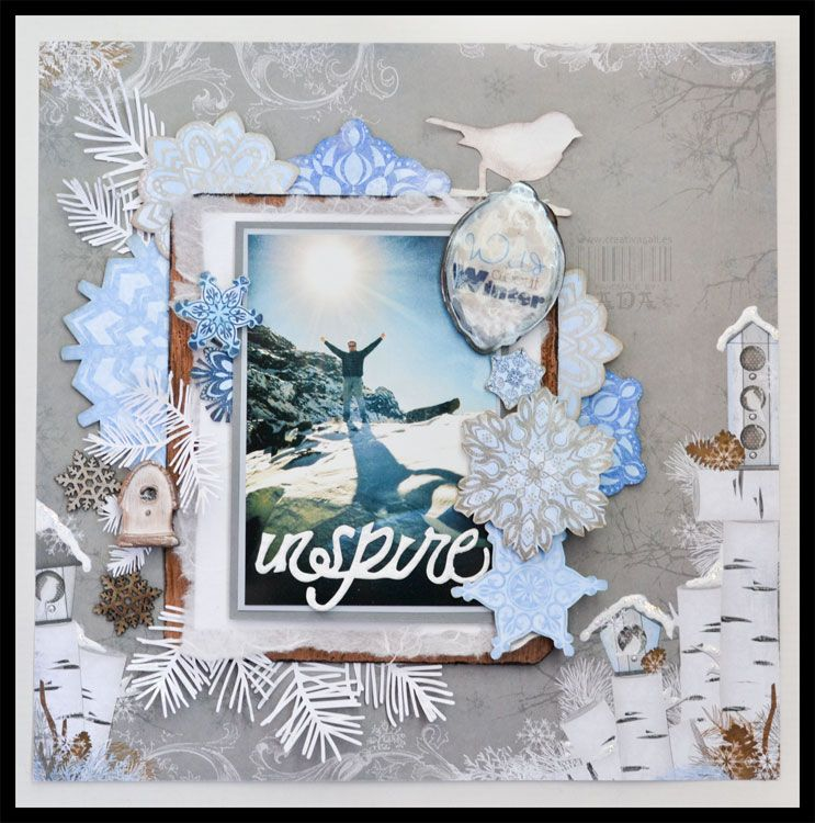 Creativa4all » SCRAPBOOKING: LAYOUT WILD ABOUT WINTER