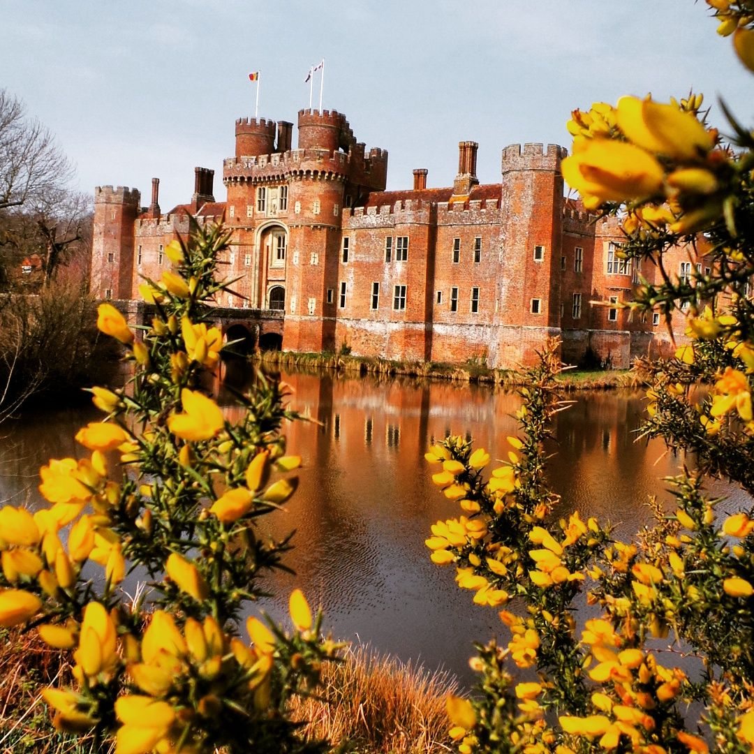 Herstmonceux Castle.. #herstmonceuxcastle #moat #reflection ...