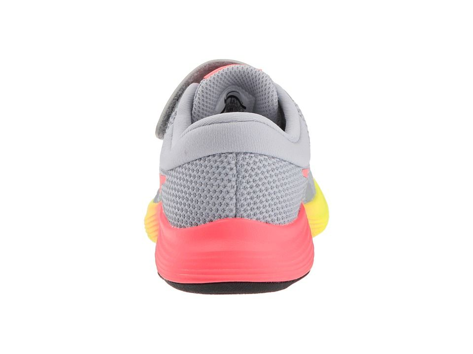 a25a0c1e6b1270 Nike Kids Revolution 4 Fade (Little Kid) Girls Shoes Wolf Grey Hot  Punch Volt Black