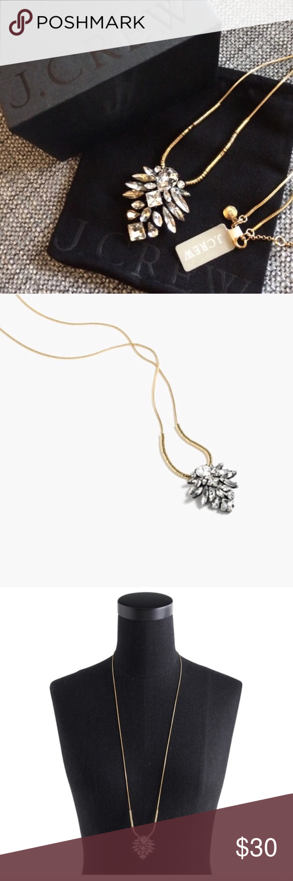Nwot j crew blooming crystal pendant necklace my posh closet