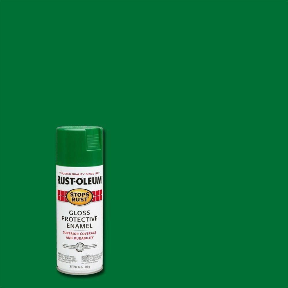 Rust-Oleum Stops Rust 12 oz. Gloss Emerald (Green) Protective Enamel Spray Paint (Case of 6)