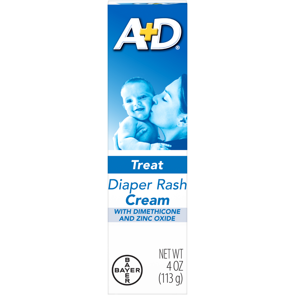 A+D Zinc Oxide Diaper Rash Treatment Cream, 4 Ounce Tube - Walmart.com