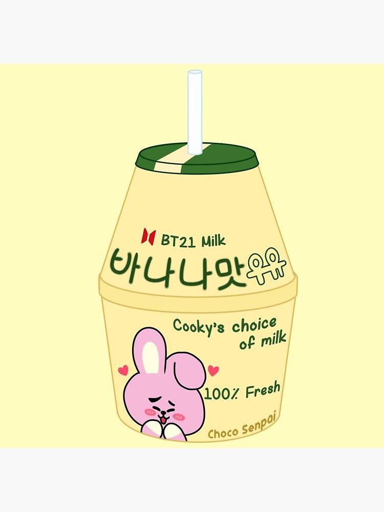 Cooky Banana Milk Bt21 De Chocosenpai Banana Milk Korean Banana Milk Bts Wallpaper
