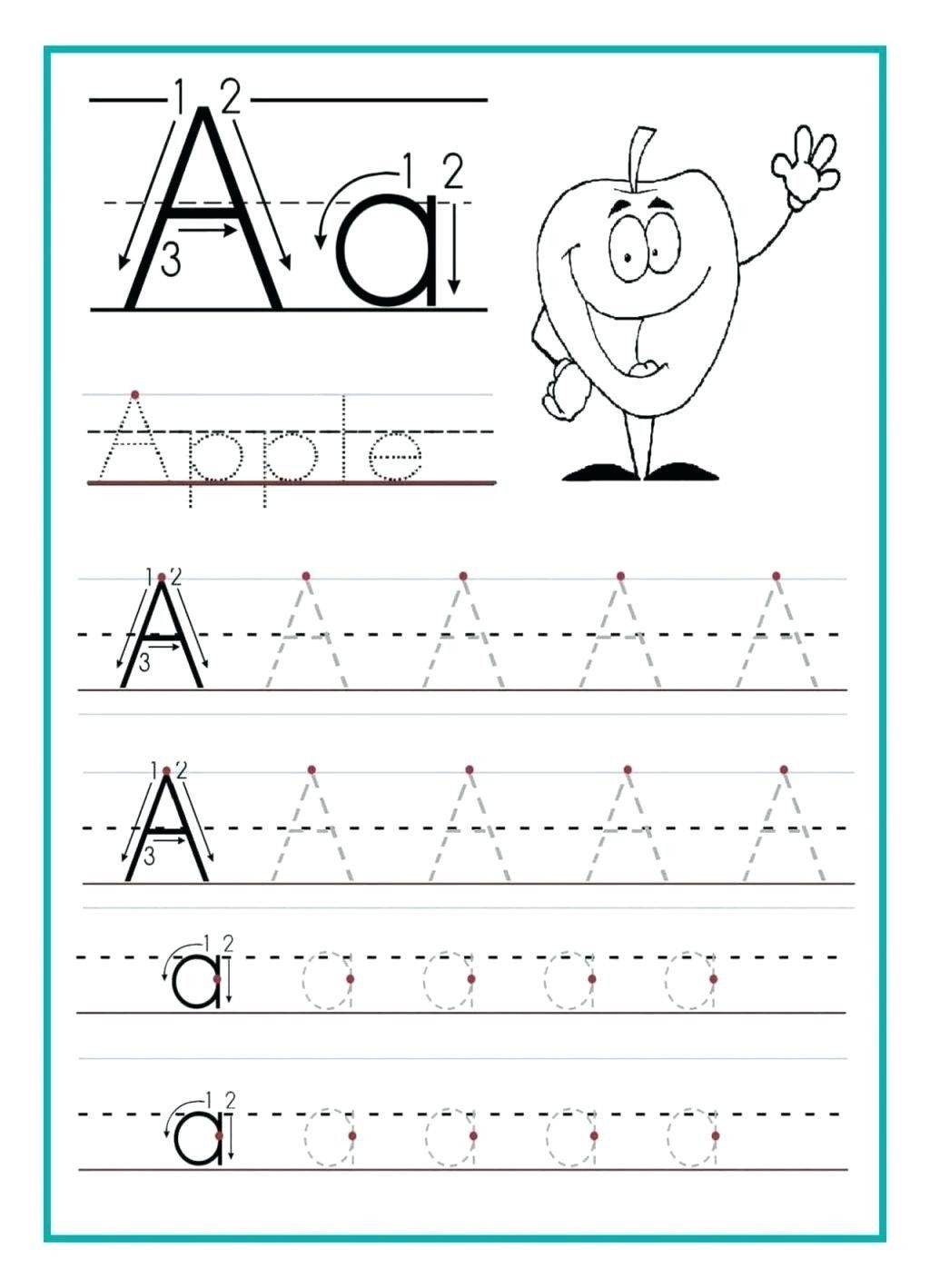 Alphabet Writing Worksheets Preschool Tracing