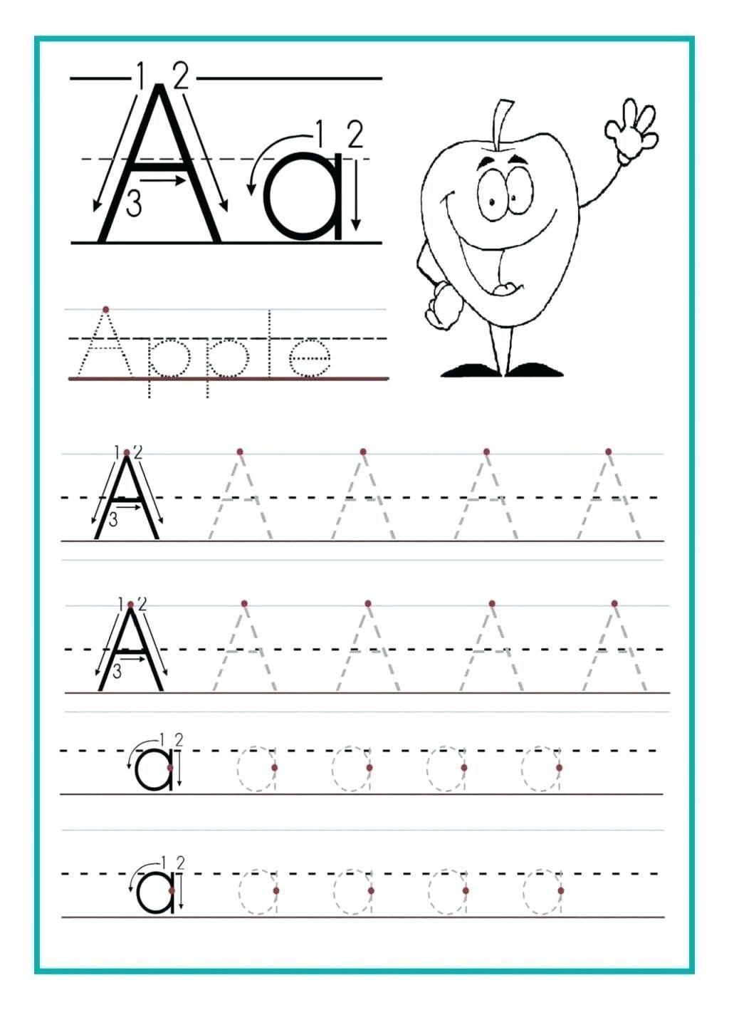 Alphabet Writing Worksheets Preschool Tracing