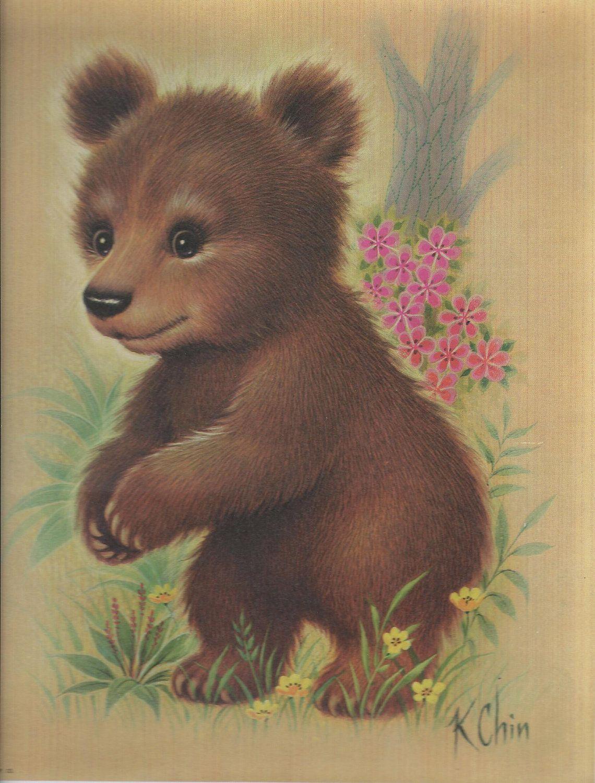k chin art chin print bernard picture co inc brown bear by