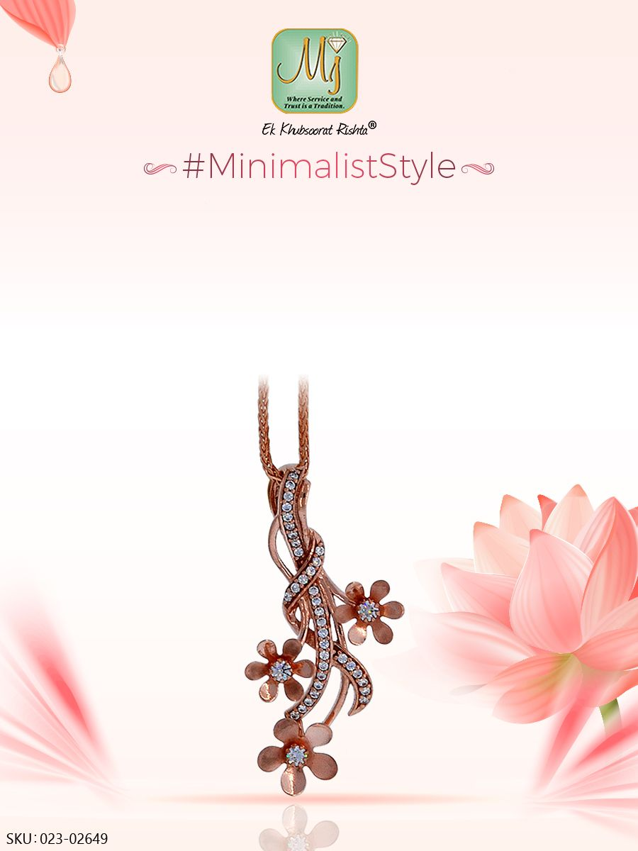 Keep it simple yet modern with this k rosegold pendant from our