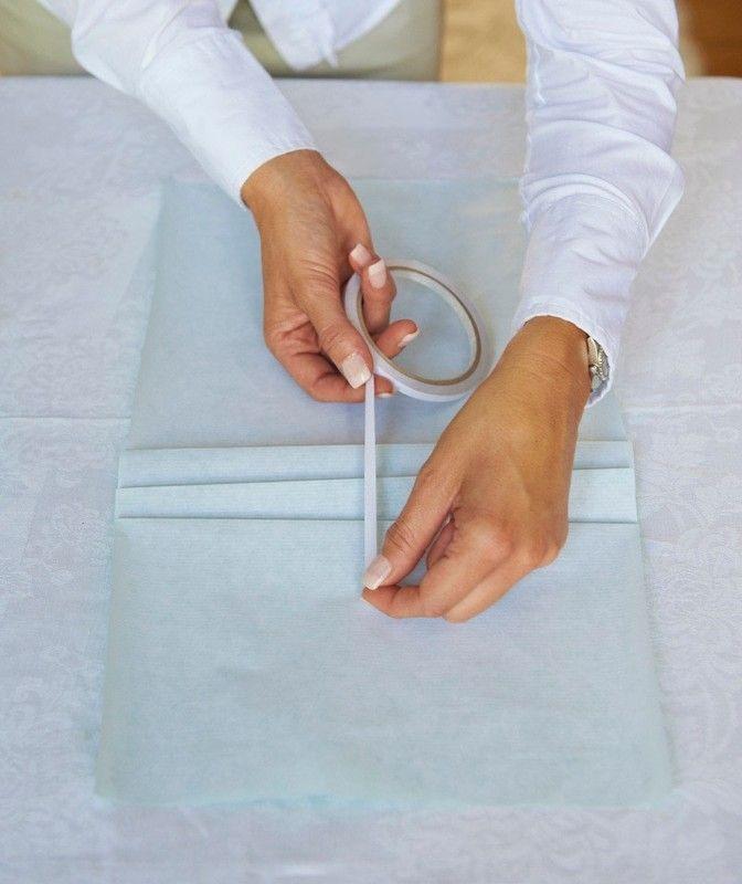 Miten tehdä lahjapaperia.  Kääre laatikko japanilainen laskokset - Vaihe 4