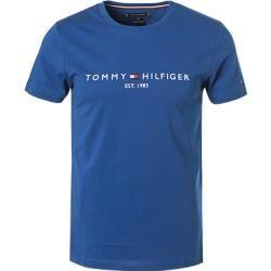 Tommy Hilfiger Herren T-Shirts, Baumwolle, blau Tommy Hilfiger