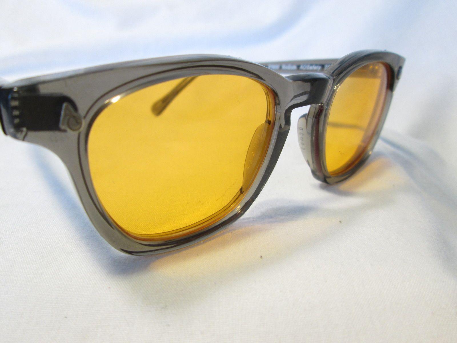 a540eaac14 New AO American Optical Safety Sunglasses Orange Lenses 48 Eyeglasses Frame