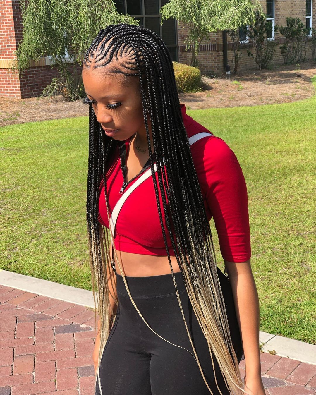 """@streetmedicine_'s Instagram profile post: """"Front Of her braids re-done after almost a month 🤯 #bookwithme #ombrebraids #tribalbraids #freestyled #appointmentsavailable"""""""
