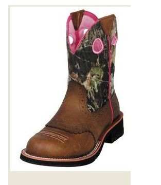 626fee817379 Ariat Ladies Brown Camouflage Fatbaby Cowgirl Boots -  10006854 ...