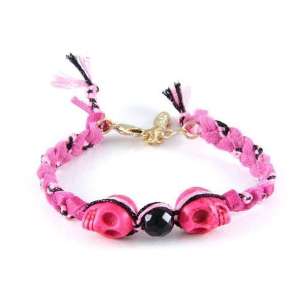 Head to Head Bracelet in Pink