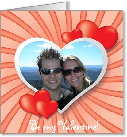 valentine photo card template swirly heart frame DIY Romantic - microsoft word greeting card template