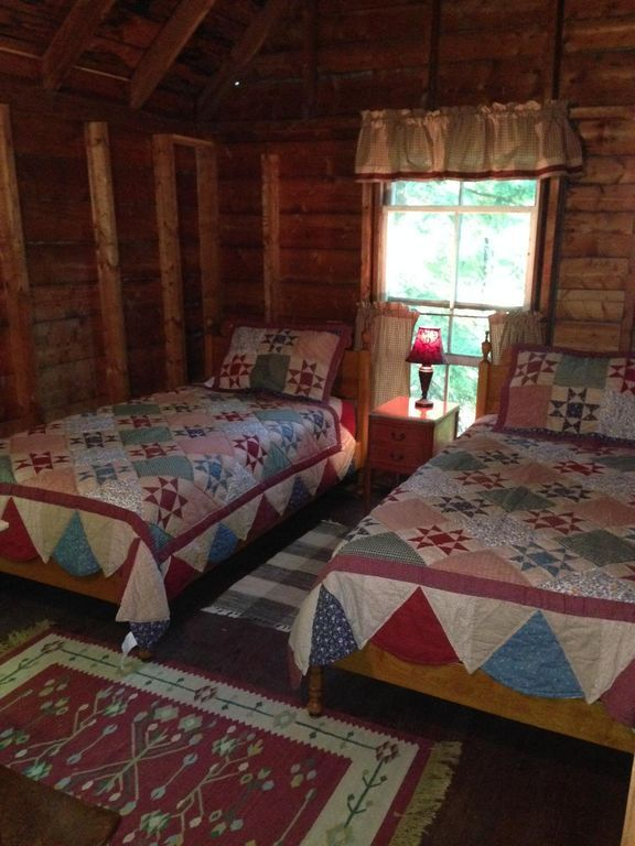Twin Bed Hotel Room: Lakefront Camp On Great Pond - Rome (With Images)