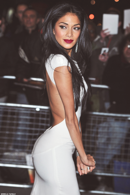 Nicole scherzinger sexy back black strappy dress