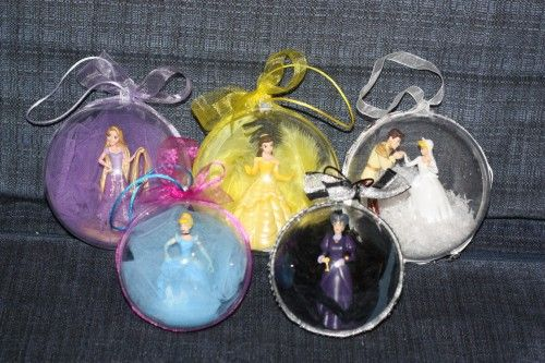 Pas cher · DIY boules de Noël princesses Disney (mar,credi créa Noël