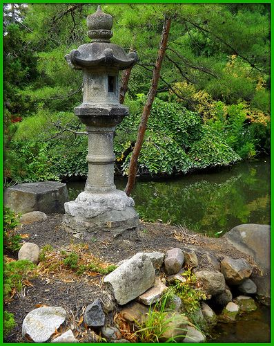 henry wood booth bought this stone lantern during a trip to california in the oriental garden is yet another peaceful space at cranbrook - Oriental Garden